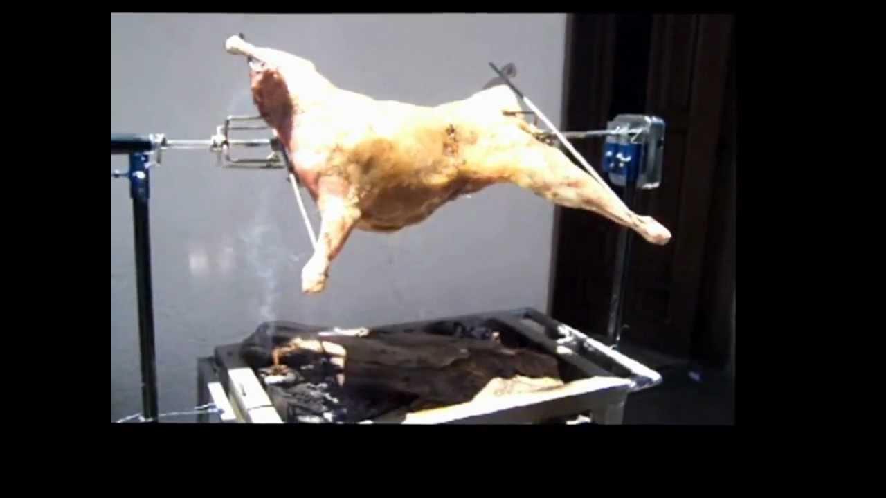 Rosticero para cabrito lech n cordero pollo etc youtube - Como cocinar las setas ...
