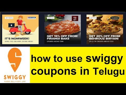 How To Use Swiggy Coupons 2018 || Telugu Tech Support