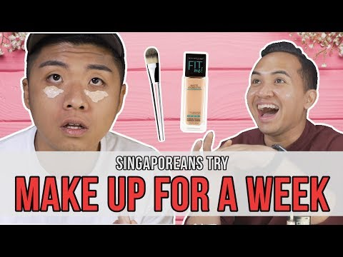 Singaporeans (Guys) Try: Wearing Makeup For A Week