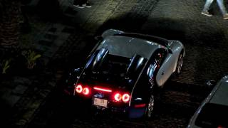 Bugatti Veyron going over speed bump in Dubai (JBR - the Walk)