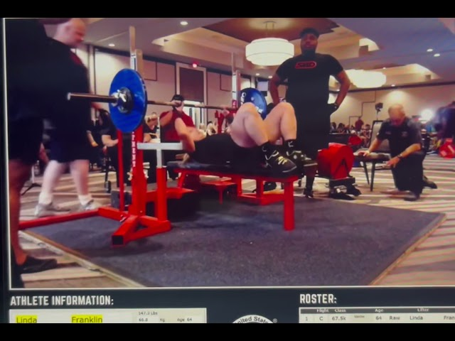 Linda Franklin - 70 kgs / 154.30 Bench