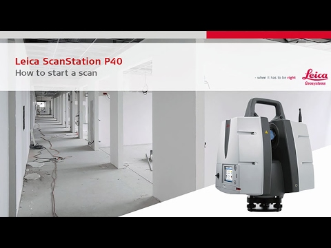 Leica ScanStation P40: How-to Start A Scan