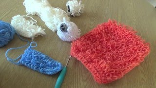 Crochet Loopy Stitch Tutorial - crochet loops to give a shaggy effect
