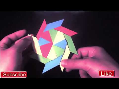 10-Minute Crafts Life Hack - Origami - How To Make a Paper Double Ninja Star