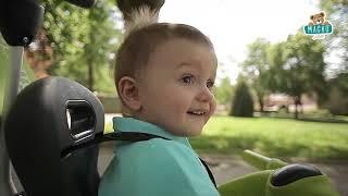 Gyerek tricikli kiesésgátlóval Baby Balade Blue Sm