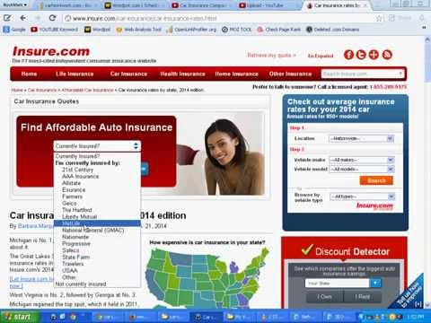 Car Insurance Rates Comparison By State