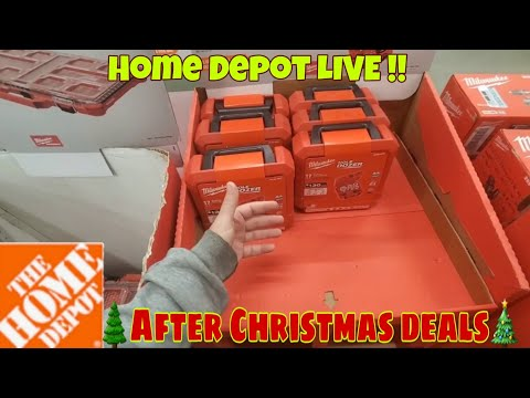 Home Depot LIVE... After Christmas PRICE DROP ??