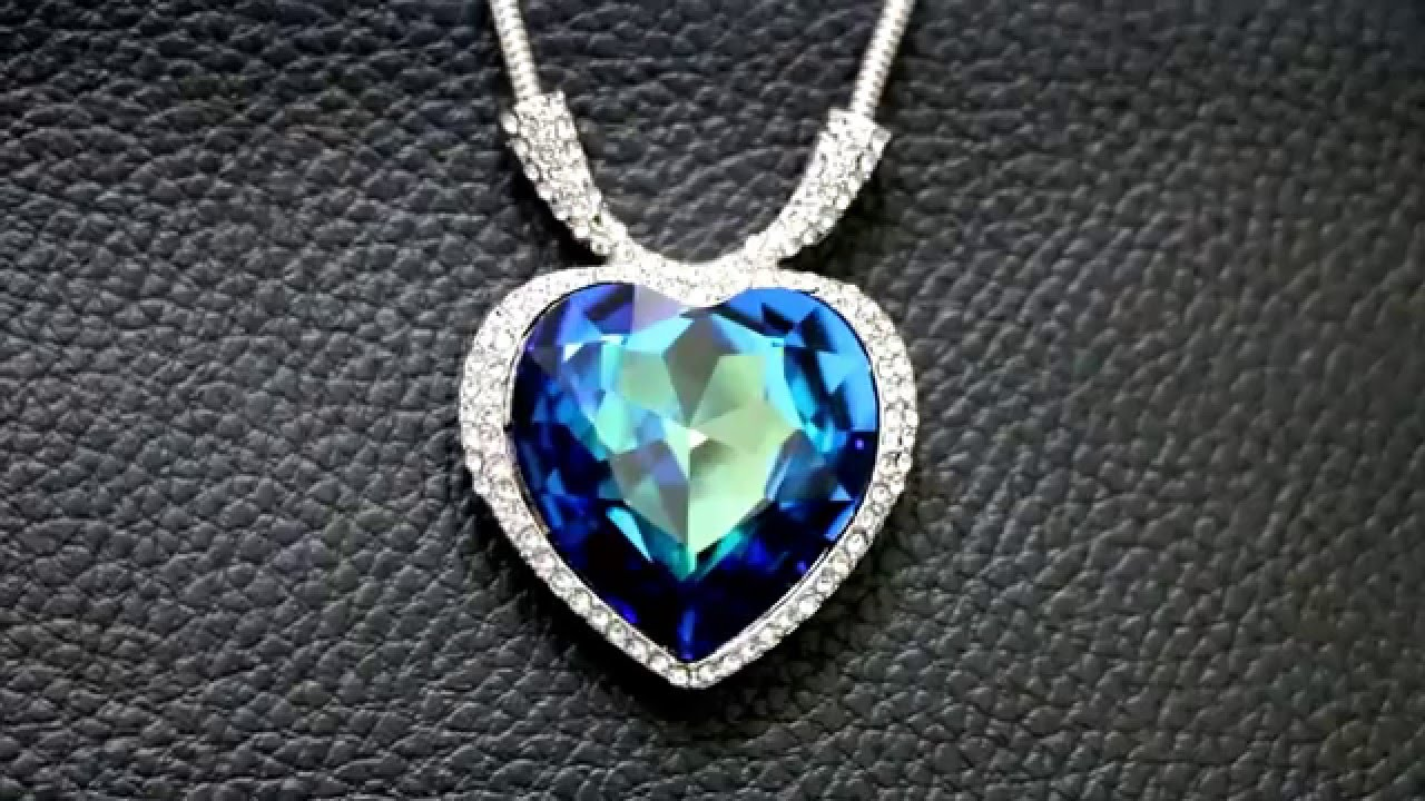 Swarovski crystal element brilliant necklace pendant heart of the swarovski crystal element brilliant necklace pendant heart of the ocean ivannajewellery youtube aloadofball Image collections