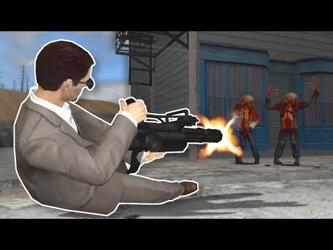 ACTION GMOD ZOMBIE SURVIVAL! - Garrys Mod Gameplay - Action Addon Survival