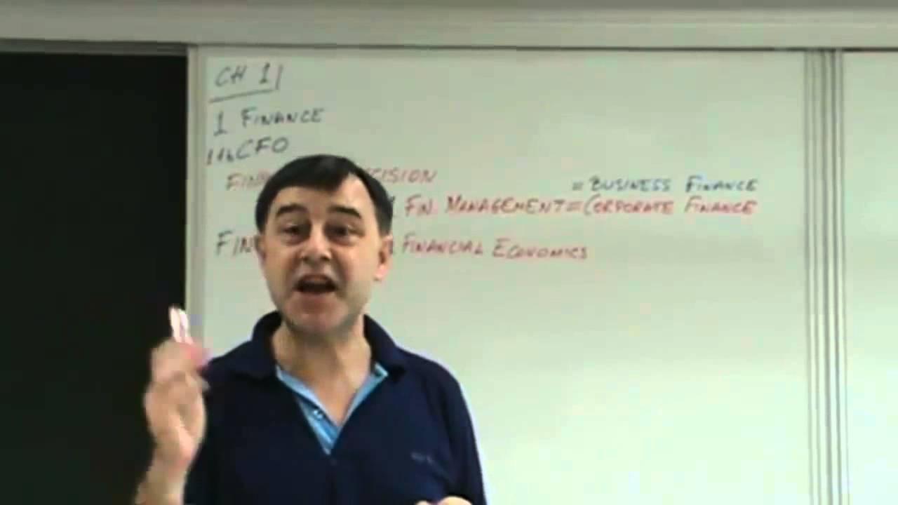 Financial Management Lecture 01