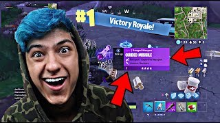PLAYING FORTNITE BATTLE ROYALE GUIDED MISSILE GAMEPLAY WITH FANS *Fortnite: Battle Royale Gameplay*