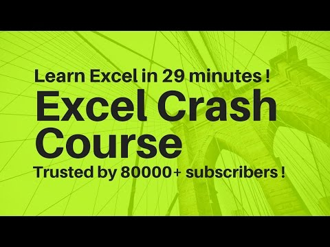 Excel Crash Course ☑️