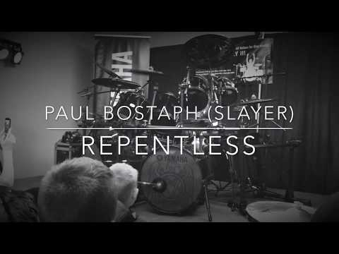 Paul Bostaph (Slayer)-Repentless-Skip's Music Sacramento CA 2/22/18 4K