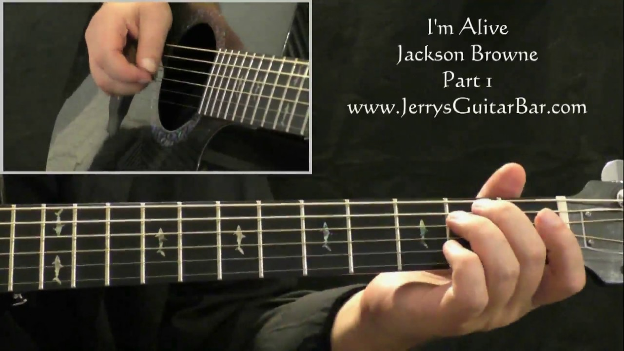 How To Play Jackson Browne Im Alive Intro Only Youtube