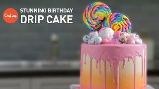 كيفية جعل تحميل كعكة عيد ميلاد (حلوى بالتنقيط كعكة) | تزيين الكعكة التعليمي