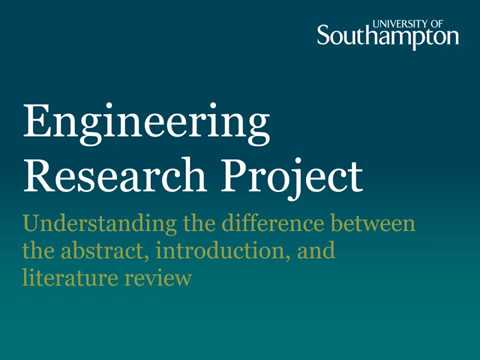 Abstract, Introduction And Literature Review