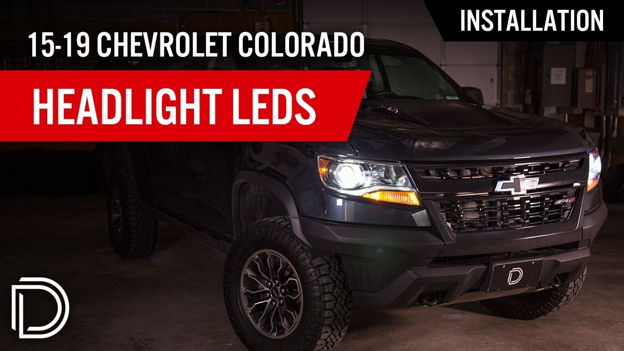 how to install 2015 2018 chevrolet colorado headlight leds diode dynamics [ 1280 x 720 Pixel ]