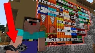 Minecraft TNT vs Noob more tnt mod! realistic minecraft animation for kids