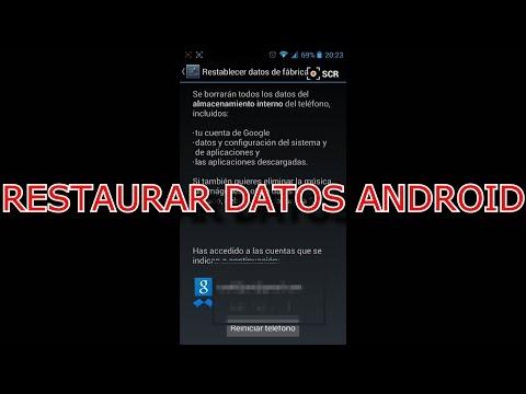 ( TUTORIAL ) RESTAURAR DATOS ANDROID