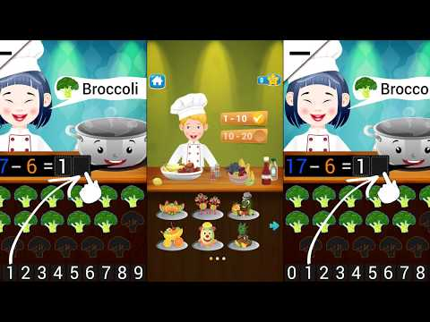 Kids Chef - Math learning game ( by Abuzz ) | numbers puzzle to create funny recipes.