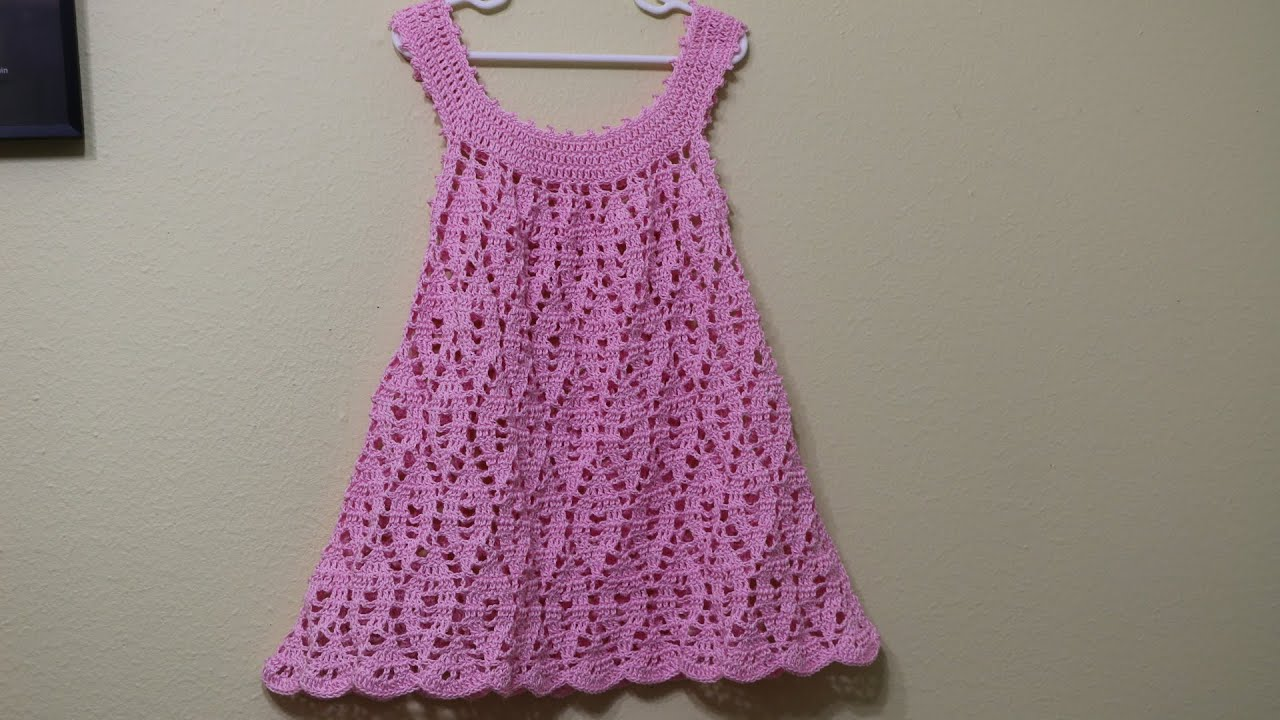 Vestido Crochet para niña de 3 a 4 años - YouTube