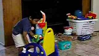 Arnav and his potty training chair