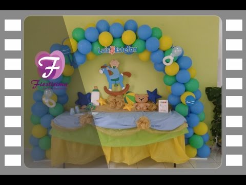 Decoraci n baby shower para ni o youtube for Decoracion de baby shower nino