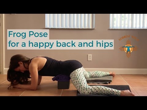 Yoga Moves to Create Space in Your Low Back & Hips - Frog Pose