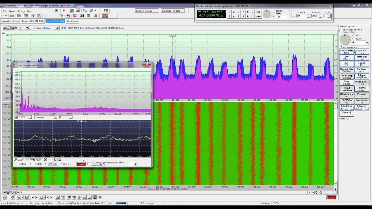 R&S EM100 + RadioInspectorRT (eng) + DTest (GSM, APCO 25