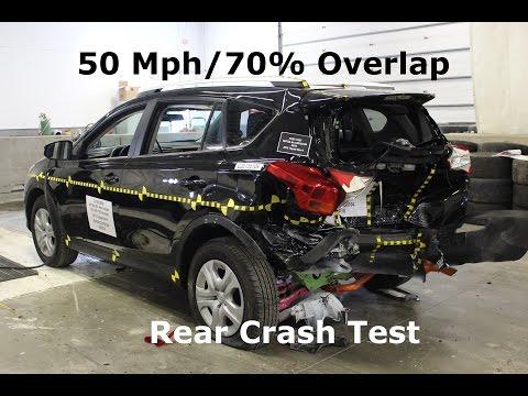 2013-2018 Toyota Rav4 FMVSS 301 Rear Crash Test (50 Mph)