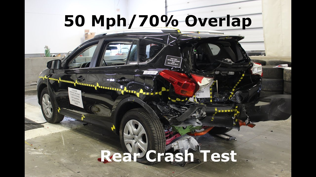 2013 2018 Toyota Rav4 Fmvss 301 Rear Crash Test 50 Mph