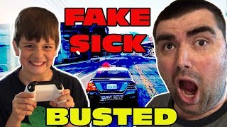 Kid Temper Tantrum FAKING Sick To Play GTA 5 Instead Of Going To School - BUSTED