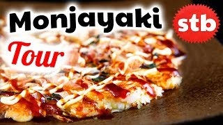 Monjayaki Food Tour in Asakusa, Tokyo (Japan Vlog 2018)