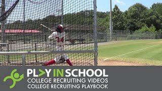Jordan Hayes   Hitting - Richmond Braves 2018 - www.PlayInSchool.com