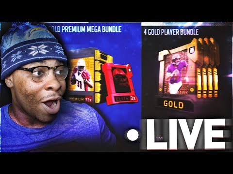 28 ELITE PULLS!! FIRST MADDEN 18 ULTIMATE TEAM PACK OPENING LIVE STREAM!