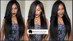 Hair Tutorial: How to Install Virgin Brazilian Hair Bundles Natural Italian Yaki