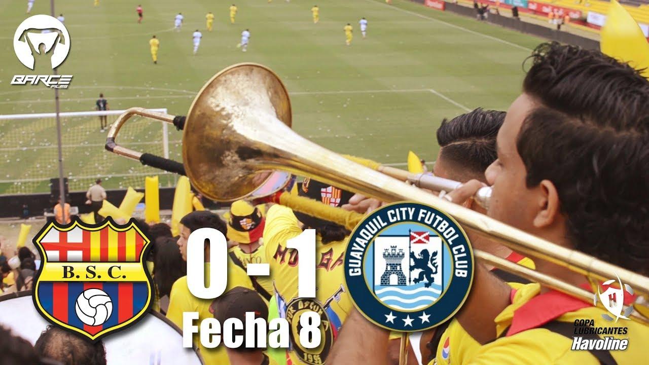 Barcelona S.C 0 vs Guayaquil City 1 / Fecha 8 / MURGA / segunda etapa CLH 2018