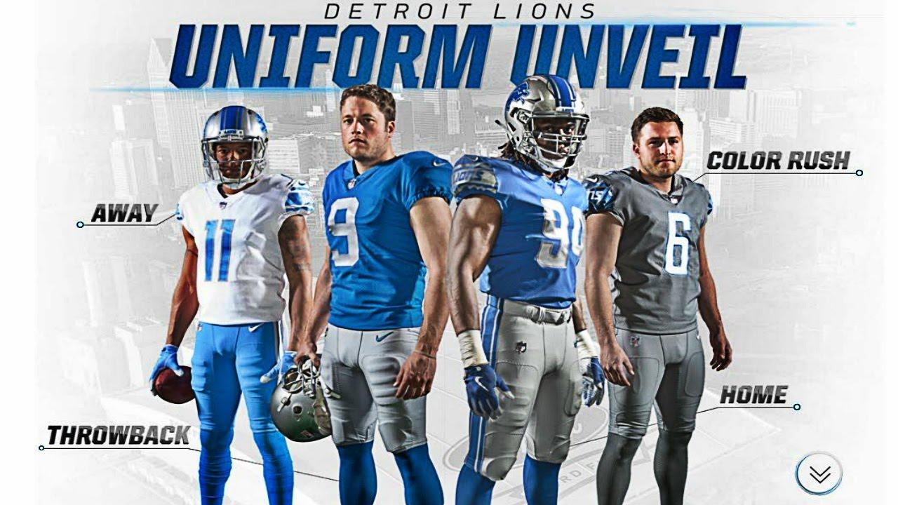 premium selection 402ca 58499 Detroit Lions New Logo For 2017 | Detroit Lions Unveil Four New Uniforms|  Detroit Lions New Uniforms