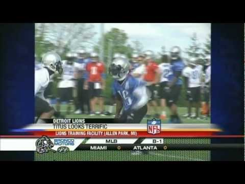Titus Young & Kellen Moore excel at Lions camp