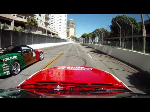 Dai Yoshihara VS Ross Petty POV Cams - Formula Drift Long Beach 2011