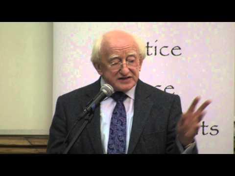 President of Ireland Michael D. Higgins at Sean MacBride Peace Prize 2012