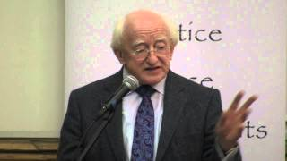 President of Ireland Michael D. Higgins at Sean MacBride Peace Prize 2012