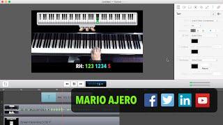 Wie erstelle Piano Lesson Videos mit ScreenFlow und Klassenzimmer Maestro