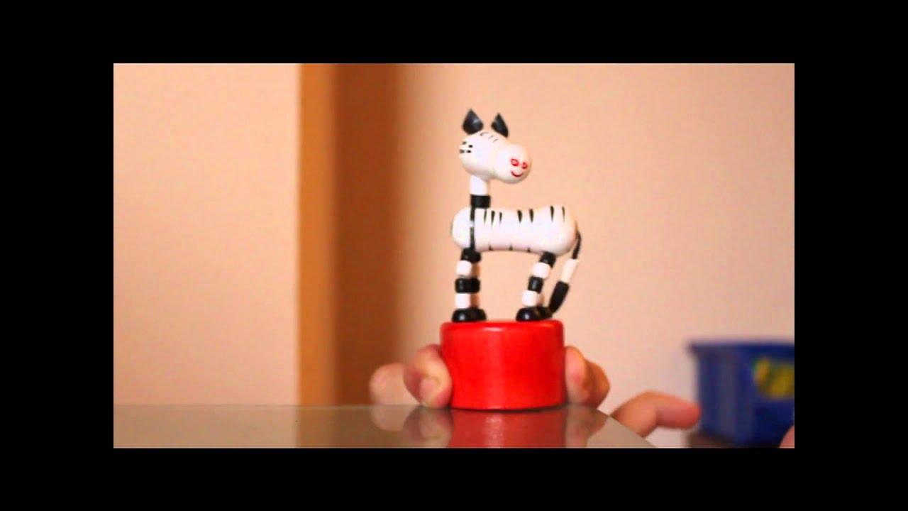 Pushing Toy, Zebra