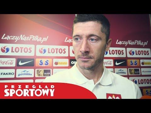 Robert Lewandowski po meczu Polska - Włochy 0:1