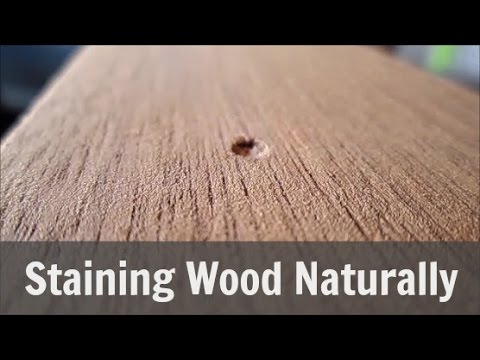 Stain Wood Naturally with Coconut Oil