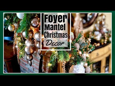 Christmas Decorations: Foyer, Stairway & Mantel | Christmas Home Decor Ideas | Decorate w Me
