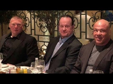 WWE Backstage Saudi Arabia Tour-Undertaker, Brock Lesnar, Angle, Roman at Greatest Royal Rumble 2018