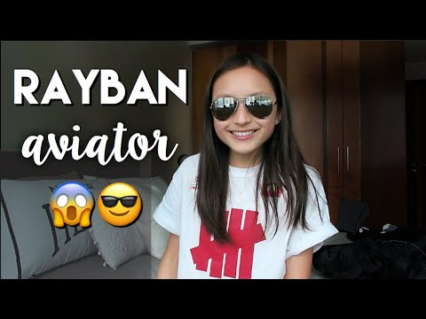 RAY-BAN *aviator* UNBOXING + review 2018 // Cass Kinling