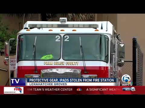 Equipment Stolen Fire Palm Beach County Fire Rescue Station In Loxahatchee Groves